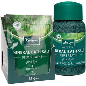 Kneipp Mineral Bath Salt - Deep Breathe - Pine & Fir 2.1 oz. - 60 grams Packet X 12