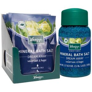 Kneipp Mineral Bath Salt - Dream Away - Valerian & Hops 2.1 oz. - 60 grams Packet X 12