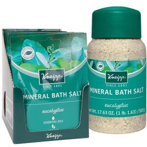 Kneipp Mineral Bath Salt - Eucalyptus 2.1 oz. - 60 grams Packet X 12