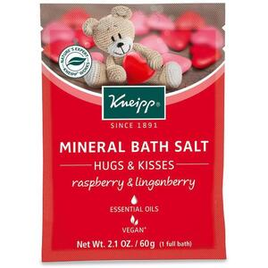 Kneipp Mineral Bath Salt - Hugs & Kisses - Raspberry & Lingonberry 2.1 oz. - 60 grams