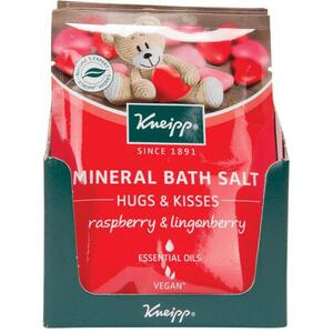Kneipp Mineral Bath Salt - Hugs & Kisses - Raspberry & Lingonberry 2.1 oz. - 60 grams Packet X 12