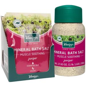 Kneipp Mineral Bath Salt - Muscle Soothing - Juniper 2.1 oz. - 60 grams Packet X 10