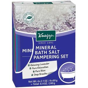 Kneipp Mineral Bath Salt - Pampering Set 2.1 oz. - 60 grams X 4 Count
