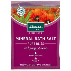 Kneipp Mineral Bath Salt - Pure Bliss - Red Poppy & Mint 2.1 oz. - 60 grams