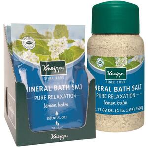 Kneipp Mineral Bath Salt - Pure Relaxation - Lemon Balm 2.1 oz. - 60 grams Packet X 12