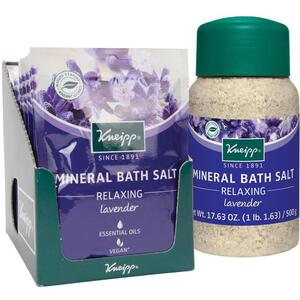 Kneipp Mineral Bath Salt - Relaxing - Lavender 2.1 oz. - 60 grams Packet X 12