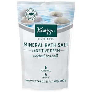 Kneipp Mineral Bath Salt - Sensitive Derm - Ancient Sea Salt 17.63 oz. - 500 grams
