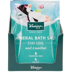 Kneipp Mineral Bath Salt - Stay Cool - Mint & Menthol 2.1 oz. - 60 grams Packet X 12