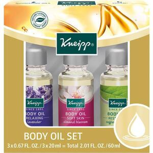 Kneipp Body Oil - Set 3 Body Oils - 0.67 fl. oz. - 20 mL. Each