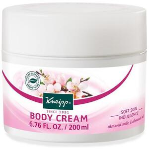 Kneipp Body Cream - Soft Skin Indulgence - Almond Milk & Almond Oil 6.76 oz. - 200 mL.