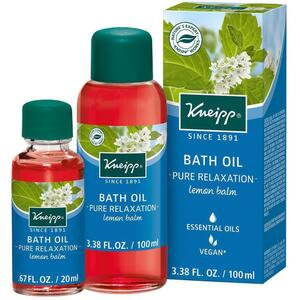 Kneipp Bath Oil - Pure Relaxation - Lemon Balm 3.38 oz. - 100 mL. - 100 mL.