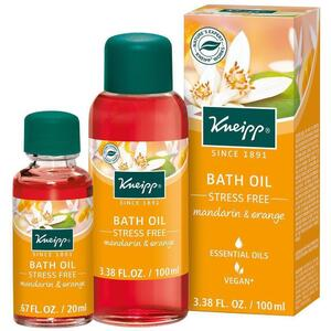 Kneipp Bath Oil - Stress Free - Mandarin & Orange 3.38 oz. - 100 mL.