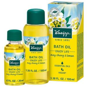 Kneipp Bath Oil - Enjoy Life - May Chang & Lemon 3.38 oz. - 100 mL.