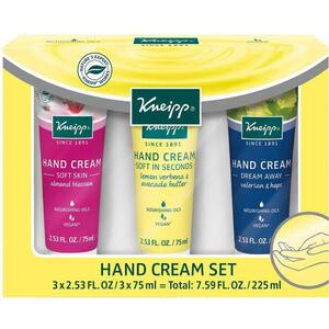 Kneipp Hand Cream Set 3 Hand Creams - 2.53 fl. oz. - 75 mL. Each