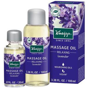 Kneipp Massage Oil - Relaxing - Lavender 3.38 oz. - 100 mL.