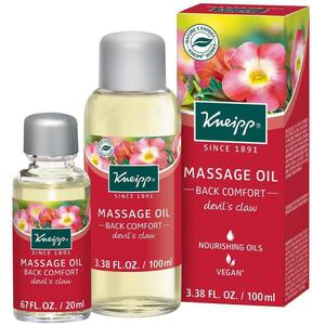 Kneipp Massage Oil - Back Comfort - Devil's Claw 3.38 oz. - 100 mL.