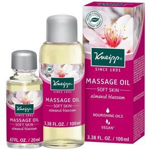 Kneipp Massage Oil - Soft Skin - Almond Blossom 3.38 oz. - 100 mL.
