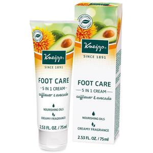 Kneipp Foot Cream - 5 In 1 - Safflower & Avocado 2.53 oz. - 75 mL.