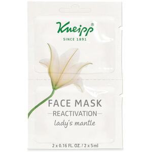 Kneipp Face Mask - Reactivation - Lady's Mantle 2 Masks - 0.16 oz - 5 mL. Each