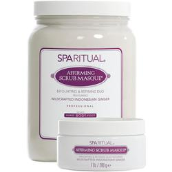 SpaRitual Affirming Scrub Masque | Exfoliating and Refining Duo - Indonesian Ginger 59.3 oz.
