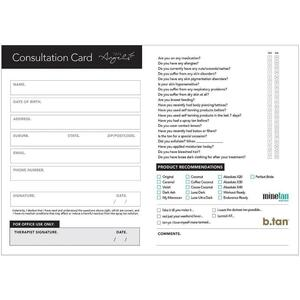 MineTan Client Consultation Cards 50 Pack