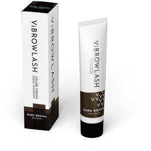 Vibrowlash Dark Brown Color Cream - Certified Vegan and Cruelty-Free Lash & Brow Tint 0.67 fl. oz. - 20 mL.