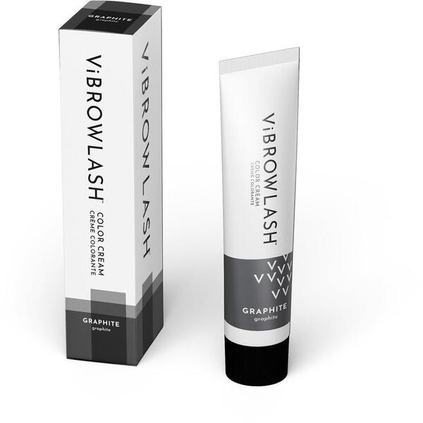 Vibrowlash Graphite Color Cream - Certified Vegan and Cruelty-Free Lash & Brow Tint 0.67 fl. oz. - 20 mL.