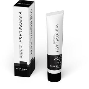 Vibrowlash Deep Black Color Cream - Certified Vegan and Cruelty-Free Lash & Brow Tint 0.67 fl. oz. - 20 mL.