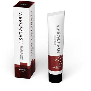 Vibrowlash Auburn Color Cream - Certified Vegan and Cruelty-Free Lash & Brow Tint 0.67 fl. oz. - 20 mL.