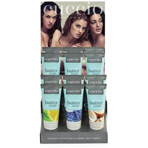 Cuccio Butter Scrub Display #2 4 each or 4 oz. Butter Scrubs - 12 Products