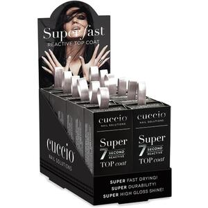 Cuccio Super 7 Second Reactive Topcoat 12 Pieces - 0.43 oz. Each Display