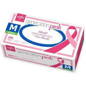 Pink Nitrile Gloves - Medium 250 Count by Medline