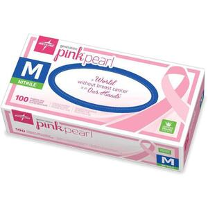 Pink Nitrile Gloves - Medium 100 Count by Medline