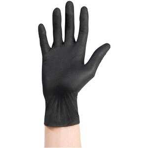 Sanek Black Nitrile Gloves - Small 100 per Box
