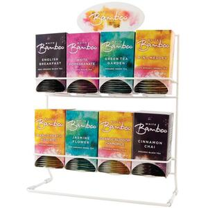 White Bamboo - 8 Tea Display Rack by White Lion Tea