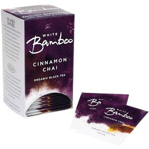 White Bamboo - Cinnamon Chai - Organic Black Tea 25 Count Box by White Lion Tea