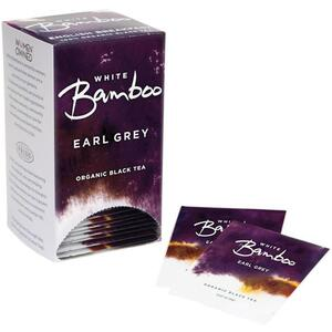 White Bamboo - Earl Grey - Organic Black Tea 25 Count Box by White Lion Tea