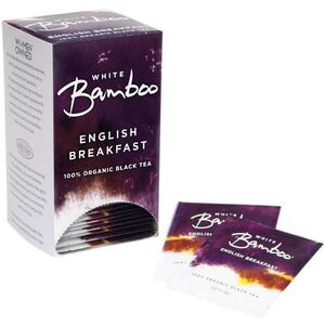 White Bamboo - English Breakfast - 100% Organic Black Tea 25 Count Box by White Lion Tea