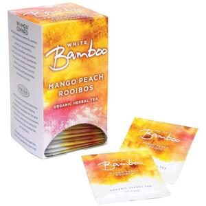 White Bamboo - Mango Peach Rooibos - Organic Herbal Tea 25 Count Box by White Lion Tea