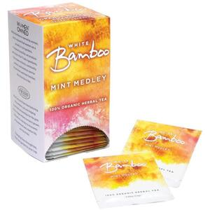 White Bamboo - Mint Medley - 100% Organic Herbal Tea 25 Count Box by White Lion Tea