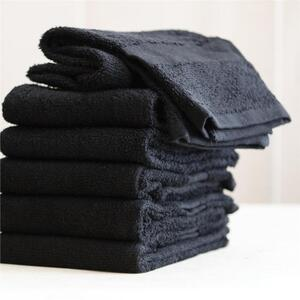 "Colorsafe Towel - 100% Cotton - 16"" x 29"" - BLACK 6 Pack"