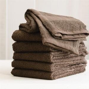 "Colorsafe Towel - 100% Cotton - 16"" x 29"" - CHOCOLATE 6 Pack"