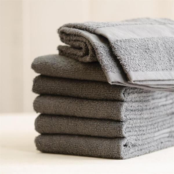 "Colorsafe Towel - 100% Cotton - 16"" x 29"" - GREY 6 Pack"