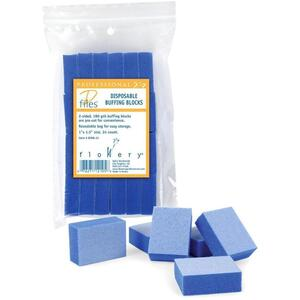 Flowery Disposable Buffing Blocks - Mini 24 Pieces