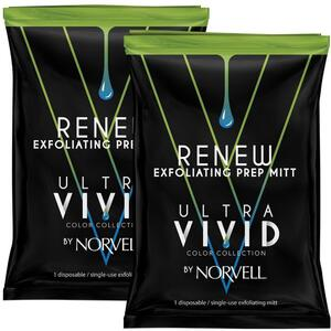 Norvell Renew Exfoilating Mitt 1 Pack - part of the ULTRA VIVID COLLECTION by Norvell