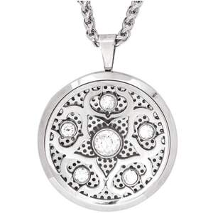 Serina & Company - Crystalized Aromatherapy Locket Necklace | Aromatherapy Jewelry for Retail!
