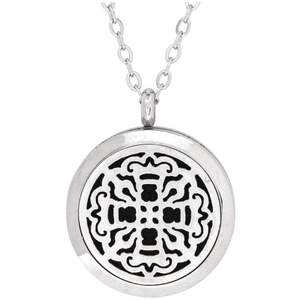 Serina & Company - Ancient Cross Aromatherapy Locket Necklace | Aromatherapy Jewelry for Retail!