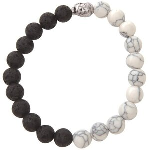 Serina & Company - Black & White Marble Lava Bracelet | Aromatherapy Jewelry for Retail!
