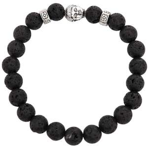 Serina & Company - Partial Silver & Black Lava Bracelet | Aromatherapy Jewelry for Retail!