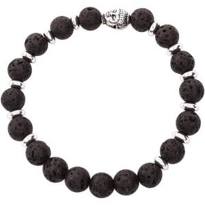 Serina & Company - Full Silver & Black Lava Bracelet | Aromatherapy Jewelry for Retail!